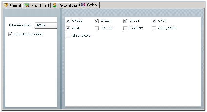 codecs servervoip