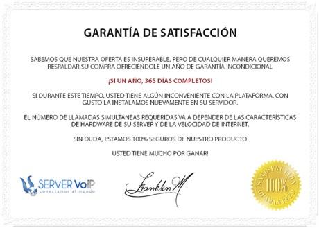 garantia servervoip telefonica